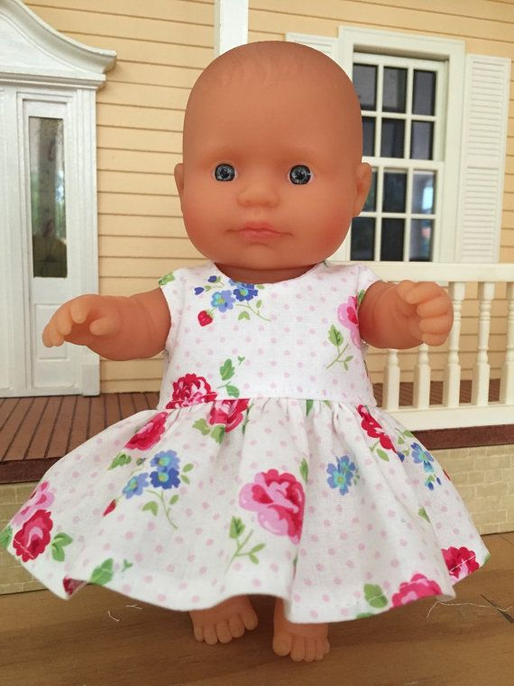 Pink Spots and Floral Summer Dress by DebsDollsClothes on Etsy