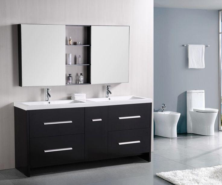 Perfecta 72u0027 Double Sink Vanity Set In Espresso