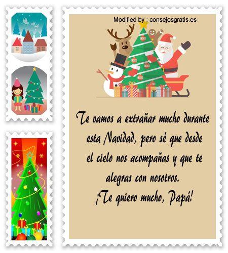 mensajes para enviar en Navidad, poemas para enviar en Navidad:  http://www.consejosgratis.es/mensajes-de-navidad-para-papa/