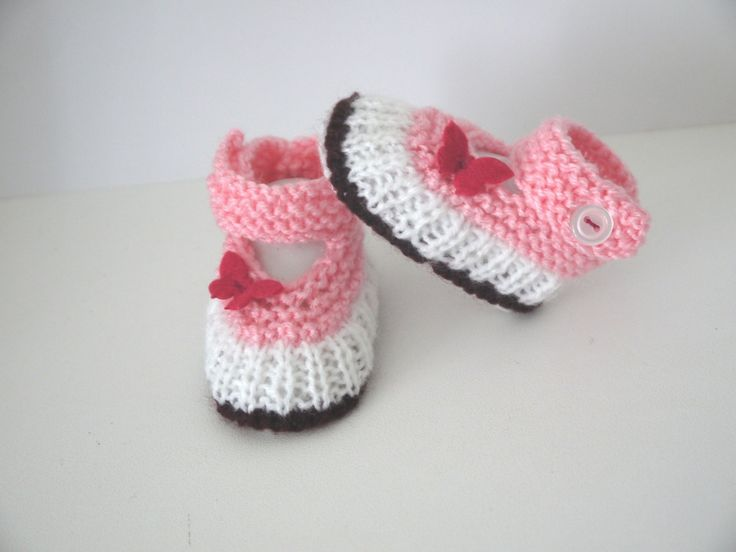 Babies chaussons bébé ballerines naissance 0/1 mois rose prune blanc chaussures papillons via Sweet-Creas's shop. Click on the image to see more!