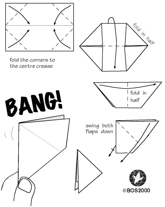 How To Fold Origami Tank