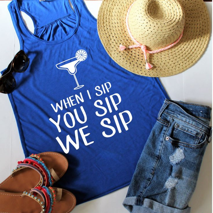 Bachelorette Party Shirts, When I sip you sip we sip Racerback Tank Top, Customize Your Colors, XS-XL, Wine Tank Top, Girls weekend by ShopatBash on Etsy