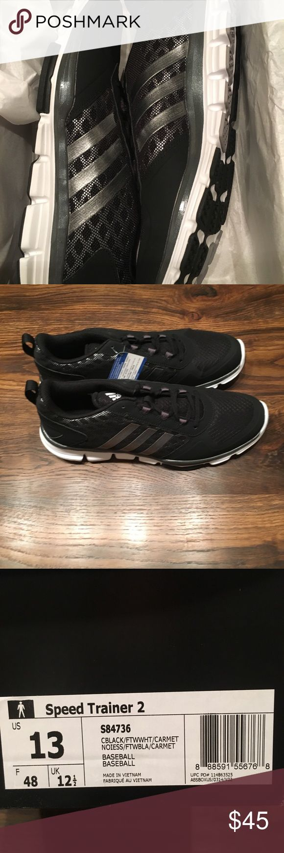 NWT Men's Black Adidas Running Shoes 13 Very nice shoes! adidas Shoes Athletic Shoes