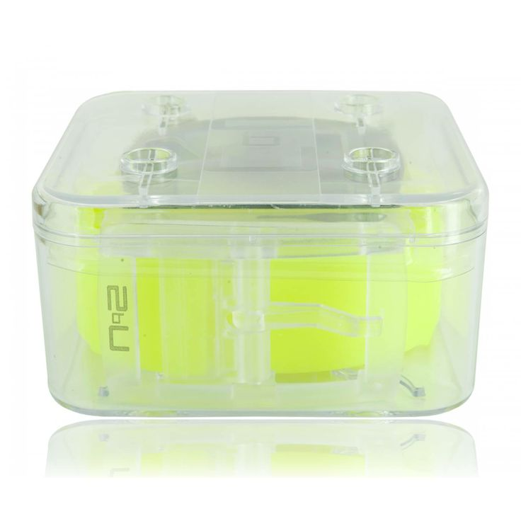 Ceinture silicone jaune fluo - 2bu