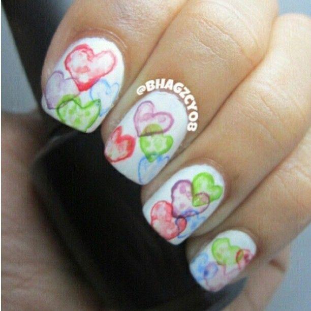 water color hearts