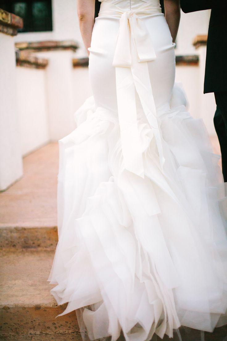 Bow. Ruffled. Vera Wang. Photography: Gina Meola - ginameola.com  Read More: http://www.stylemepretty.com/arizona-weddings/scottsdale/2013/12/09/scottsdale-arizona-wedding/