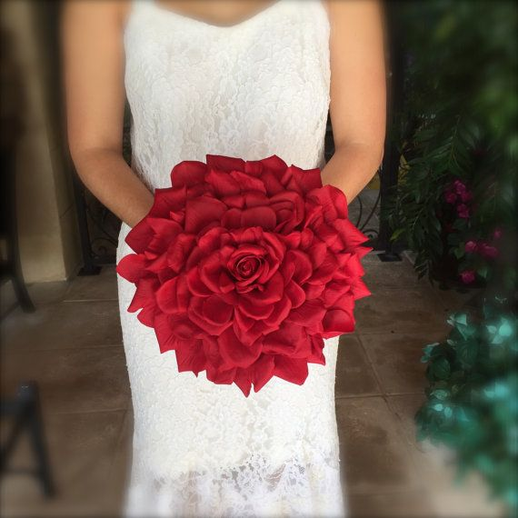Custom real touch rose glamelia composite wedding bouquet alternative bouquet…