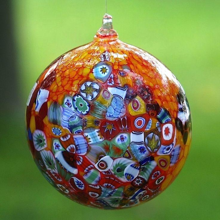 """Christmas ball ornament with """"primavera"""" murrina #yourmurano #venetianglass #xmastree"""