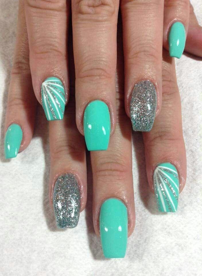 Glitter party nails retro – Nägel Sommer