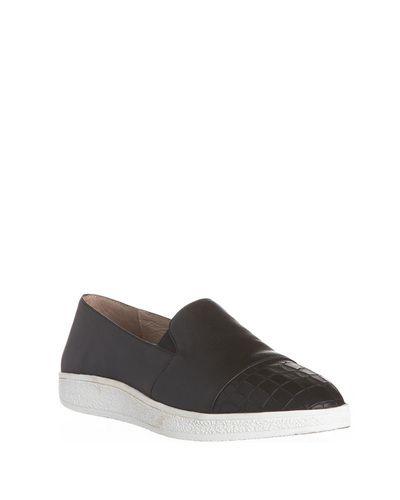 Sol Sana Tab Leather Slip On Sneaker