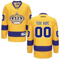 Mens Los Angeles Kings Reebok Gold Premier Alternate Custom Jersey