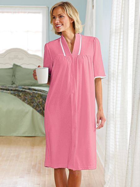 wrap yourself in the softness of our womenu0027s terry cloth robe this snap front robe - Terry Cloth Robe
