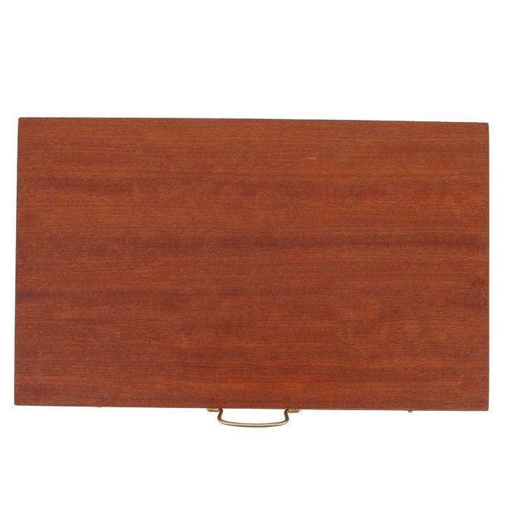 Handmade Mahogany Wood Backgammon Board Classic Deluxe Wooden Game Set, Slots Storage, Large