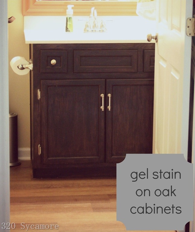 Gel Stain Kitchen Cabinets Espresso: Ugly, Dated Oak Turned Fabulous! Sand Lightly And Paint On