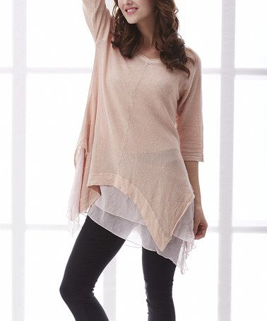 Look what I found on #zulily! Pink Linen Sidetail Tunic #zulilyfinds