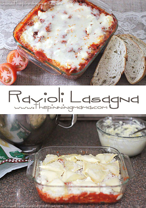 Easy   delicious = the perfect weeknight recipe! Making it this week! Easy Ravioli Casserole!