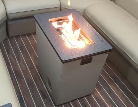 Portable Pontoon Fireplace