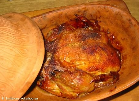 Kyckling i lergryta - Recept