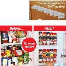 Neu! Adhesive montiert Küche 20 Schrank Spice Rack, Gewürz Clips Speicher-Halter & Racks (5 Schrank x 4)(China (Mainland))
