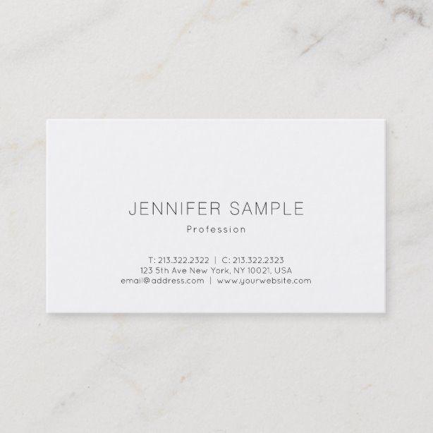 Beautiful Simple Design Professional Plain Luxury Business Card Zazzle Com Luxury Business Cards Dental Business Cards Simple Designs