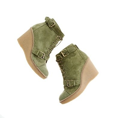 green, please!Fashion, Suede Wedges, Madewell Suede, Funky Style, Fabulous Colours, Wedges Booty, Accessories, Dirty Fabulous, Bootie