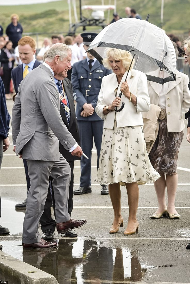 Prince Charles and Camilla carry on days after Queen's Nazi salute images | Daily Mail Online