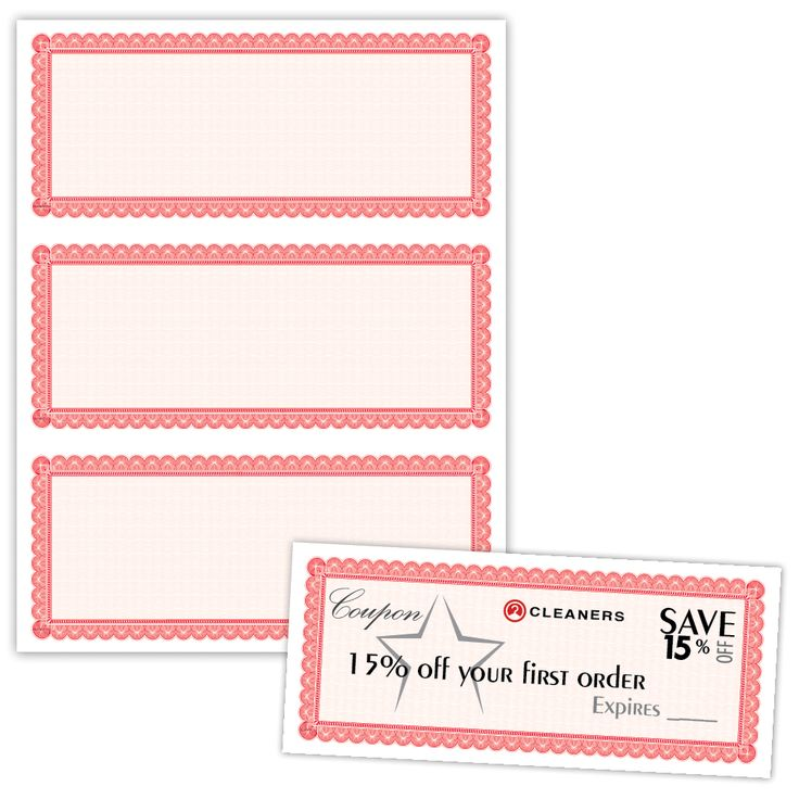 """8.5"""" x 3.67"""" Certificate with Border on 8.5"""" x 11"""", 60 Lb. Offset, 50/pack - 60 Lb. Offset White3-up on 8.5"""" x 11"""" sheet..."""