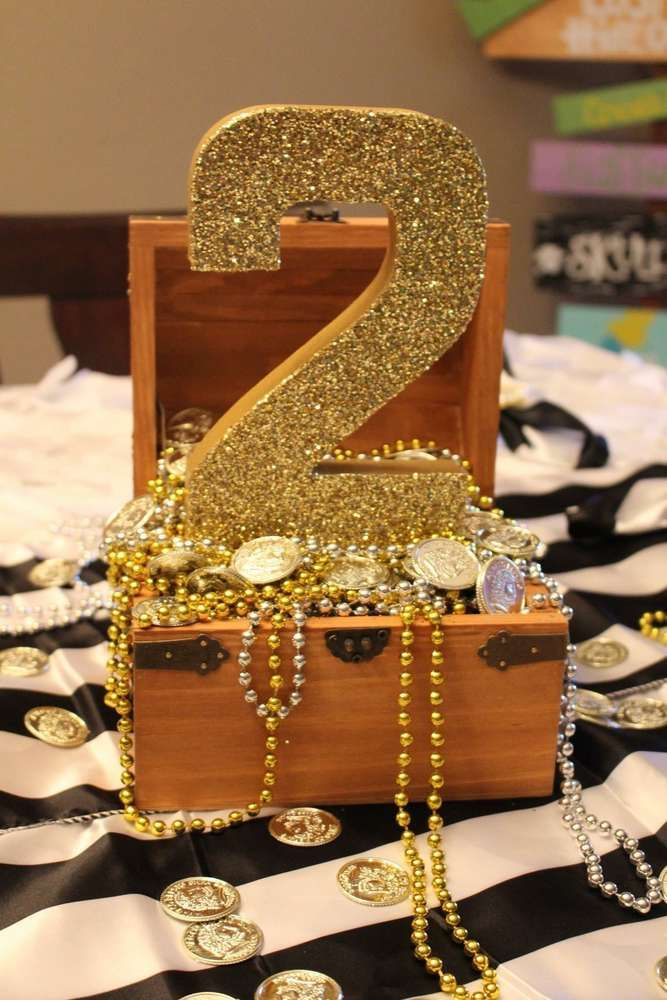 Glittery number at a Peter Pan Neverland birthday party! See more party ideas at CatchMyParty.com!
