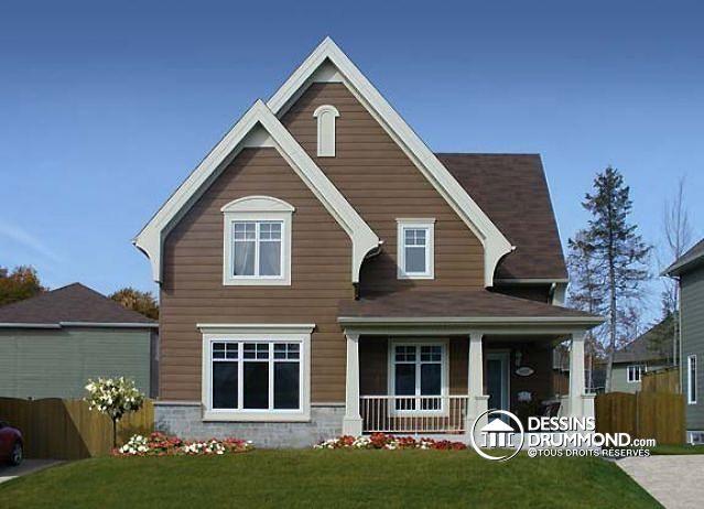 W3503 mod le de maison champ tre plancher aire ouverte for Modele maison champetre