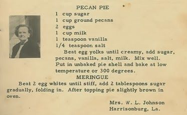 Family Recipe Friday ~ Pecan Pie #geneabloggers #genealogy