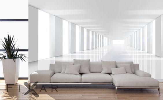 fototapeten geraumiger korridor vergroerung fototapeten fixar wohnen pinterest korridor. Black Bedroom Furniture Sets. Home Design Ideas