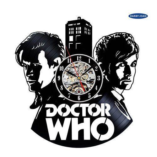 Doctor Who's TARDIS Vinyl Record Wall Clock