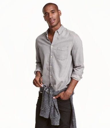 Kot Gömlek Regular Fit | Gri | Erkek | H&M TR