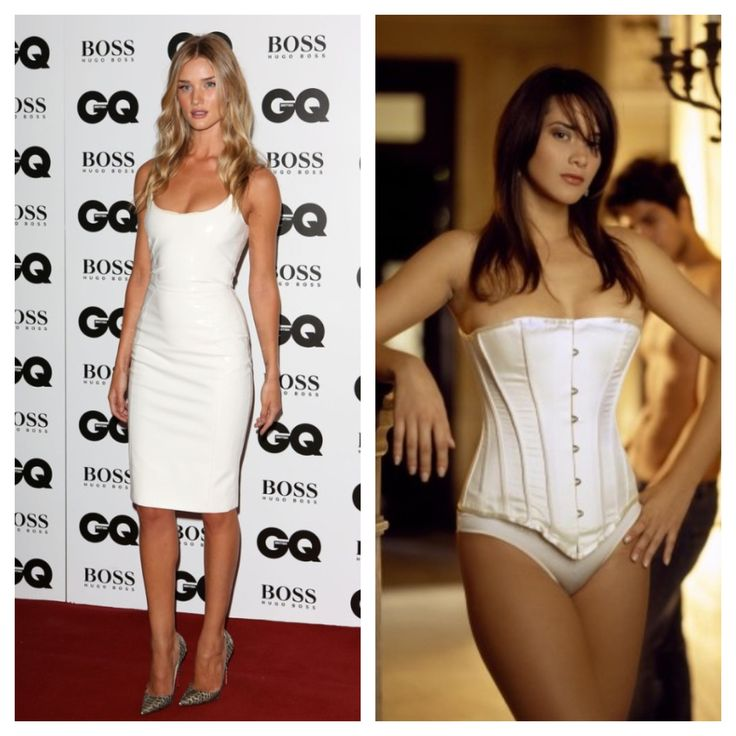 Get Rosie Huntington-Whiteley's look with Vollers 'Spirit' corset in White Satin http://www.vollers-corsets.com/spirit.html