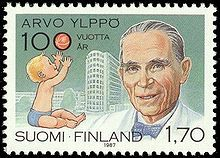 Arvo Ylppö (27 October 1887 – 28 January 1992),   Finnish pediatrician who significantly decreased Finnish infant mortality during the 20th century. He is credited as the father of Finland's public child welfare clinic system...
