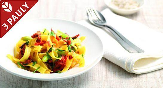В России макароны - традиционный гарнир, в то время как на юге Европы их смело сочетают с овощами! Пробуем!