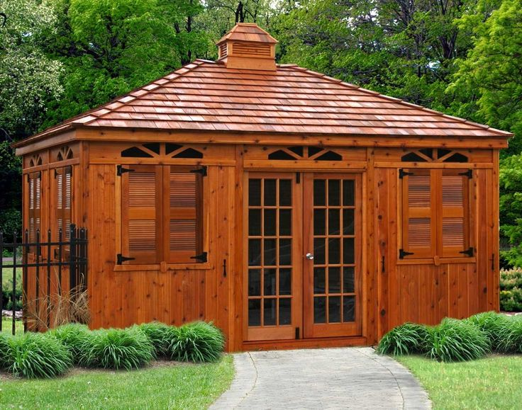 Cabanas_3111 Red Cedar Rectangle Cabanas 4 . You can design your cabana to your specification. We send you the kit ready to assemble.More ideas on website