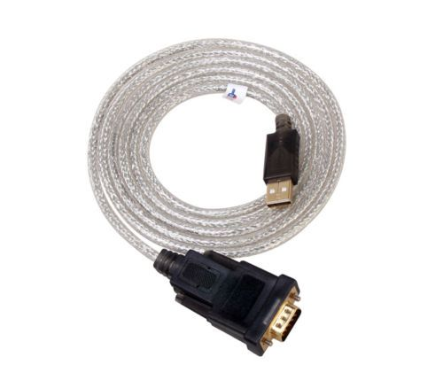15ft FTDI Chip USB to Serial Adapter Cable DB9 RS232 Cord Converter Windows 10 7