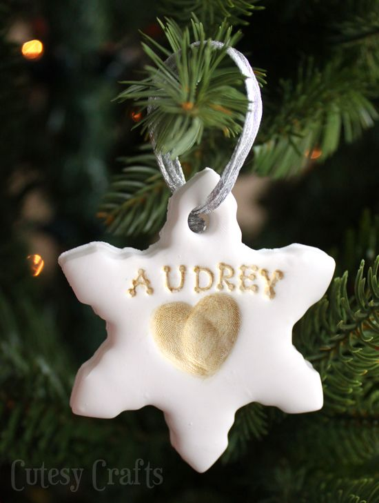 Handmade Christmas ornaments stamped with your children's fingerprints!