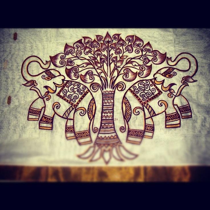 Elephant motif.. A take on ancient Madhubani art