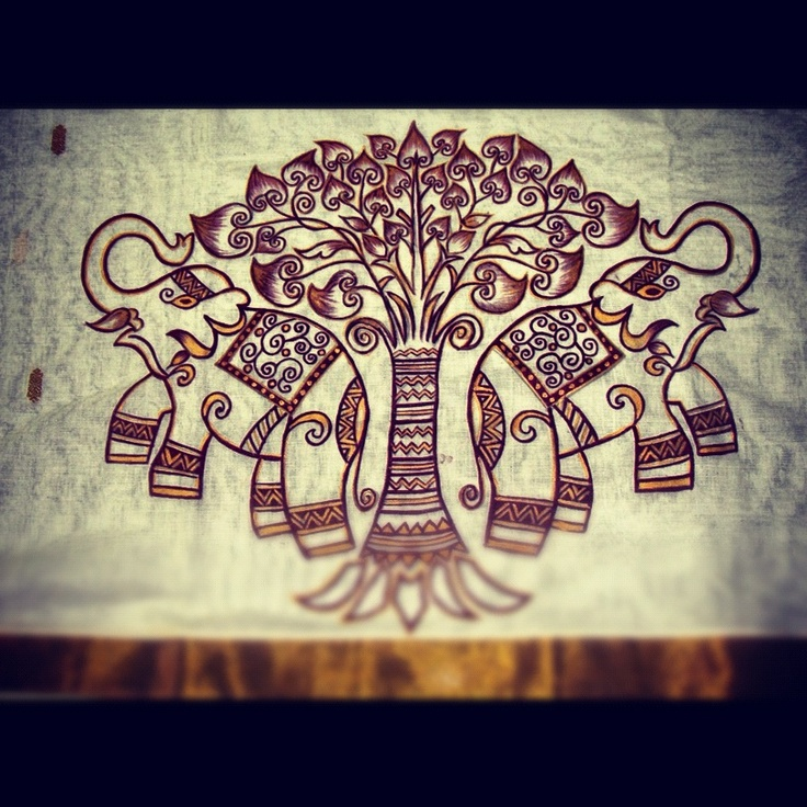 Elephant motif.. A take on ancient Madhubani art
