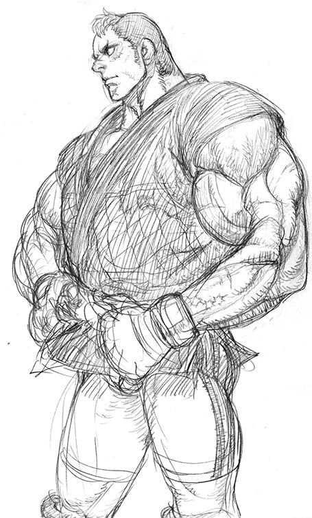 Abel of Street Fighter 4 Concept Art