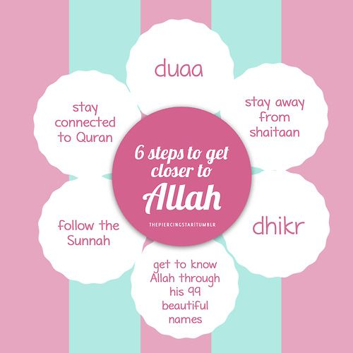 6 steps to get closer to Allah Follow @muslim_quotes at Twitter