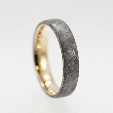 Best 25 Meteorite Ring Ideas On Pinterest Wedding Band Dinosaur Bone And Wood Inlay