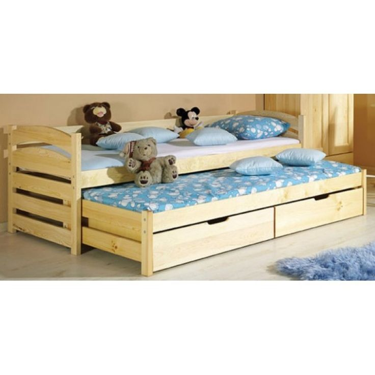 ABC TIMI Dagbädd / Säng med utdragbar extrasäng under,och 2 sänglådorOBS! Madrasser säljs separat.Madrassmåtten är 195 / 80 och 185 / 80.EKO PRODUKT