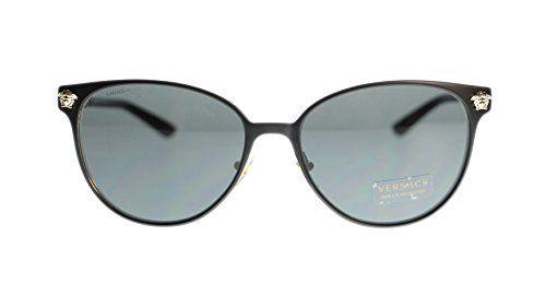 240e1960dd Sundog Versace Women s Sunglasses VE2168 137787 Matte Black Grey Lens 57mm