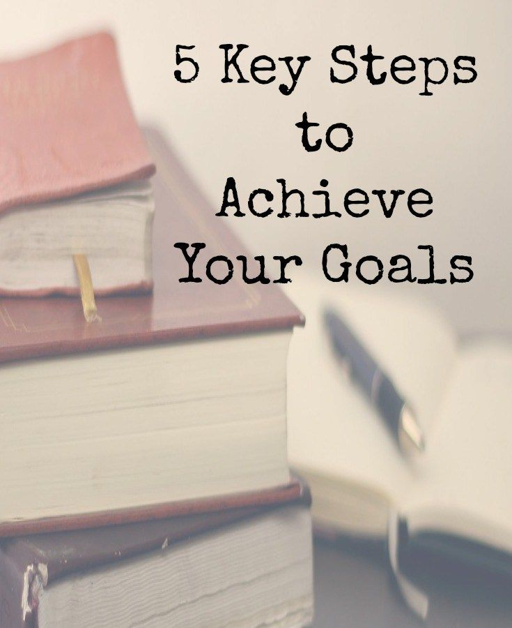 5 Key steps to achieve your goals.  Use these simple goal setting tips to consistently achieve your goals.