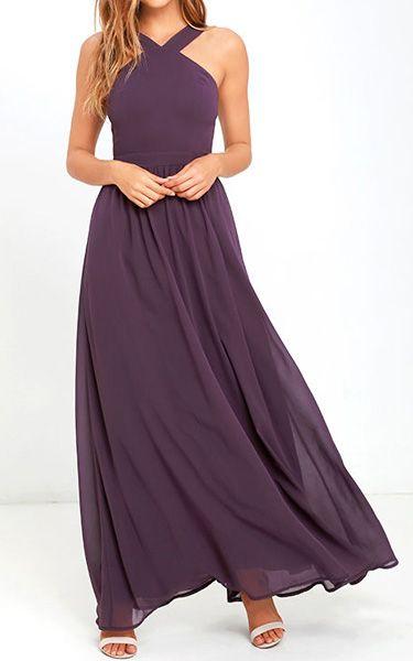 Air of Romance Dusty Purple Maxi Dress via @bestchicfashion