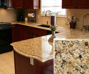 Venetian Gold Cheap Granite Countertop  Belongs To Class B, But It Is On A