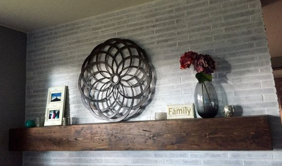 Rustic Distressed Fireplace Mantel by InspirationSisters on Etsy